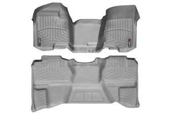 WeatherTech 462941-460669 Grey FloorLiner Set for 2007-2013 GM 6.6L Duramax LMM, LML