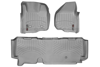 WeatherTech 46305-1-3 Grey FloorLiner Set for 2011-2012 Ford 6.7L Powerstroke