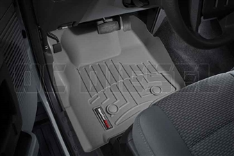 WeatherTech 463051 Grey Front FloorLiner for 2011-2012 Ford 6.7L Powerstroke