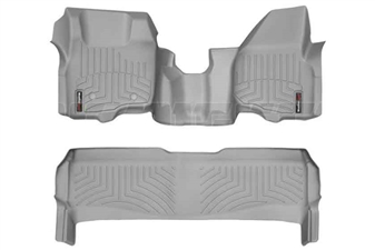 WeatherTech 463291-463052 Grey FloorLiner Set for 2011-2012 Ford 6.7L Powerstroke