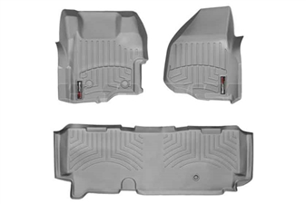 WeatherTech 464261-463053 Grey FloorLiner Set for 2011-2012 Ford 6.7L Powerstroke