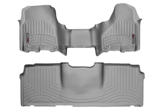 WeatherTech 464771-460123 Grey FloorLiner Set for 2012-2017 Dodge 6.7L Cummins