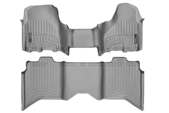 WeatherTech 464771-462163 Grey FloorLiner Set for 2012-2017 Dodge 6.7L Cummins