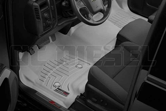 WeatherTech 465431 Grey Front FloorLiner for 2014-2017 GM 6.6L Duramax LML, LP5