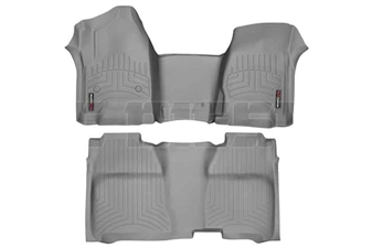 WeatherTech 465431-465422 Grey FloorLiner Set for 2014-2017 GM 6.6L Duramax LML, LP5
