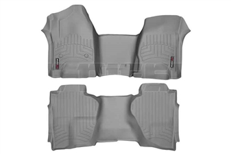 WeatherTech 465431-465423 Grey FloorLiner Set for 2014-2017 GM 6.6L Duramax LML, LP5