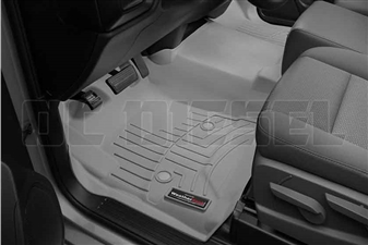 WeatherTech 465451 Grey Front FloorLiner for 2014-2017 GM 6.6L Duramax LML, LP5