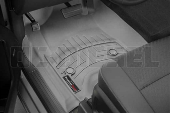 WeatherTech 466071 Grey Front FloorLiner for 2014-2017 GM 6.6L Duramax LML, LP5