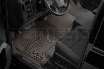 WeatherTech 475431 Cocoa Front FloorLiner for 2014-2017 GM 6.6L Duramax LML, LP5