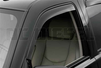 WeatherTech 80184 Front Pair Dark Side Window Deflectors for 2001-2007 GM 6.6L Duramax LB7, LLY, LBZ