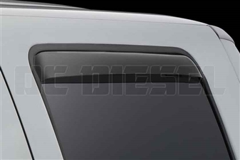 WeatherTech 81138 Rear Pair Dark Side Window Deflectors for 1999-2016 Ford 7.3L, 6.0L, 6.4L, 6.7L Powerstroke