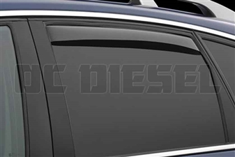 WeatherTech 81184 Rear Pair Dark Side Window Deflectors for 2001-2007 GM 6.6L Duramax LB7, LLY, LBZ