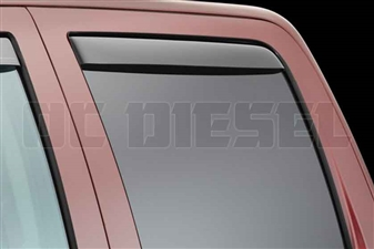 WeatherTech 83740 Dark Side Window Deflectors Set for 2014-2017 GM 6.6L Duramax LML, LP5