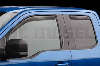 WeatherTech 84765 Dark Side Window Deflectors Set for 2017 Ford 6.7L Powerstroke
