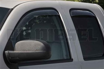 WeatherTech 86426 Dark Side Window Deflectors Set for 2007-2013 GM 6.6L Duramax LMM, LML