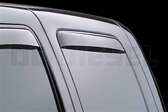 WeatherTech 87184 Rear Pair Dark Side Window Deflectors for 2001-2007 GM 6.6L Duramax LB7, LLY, LBZ