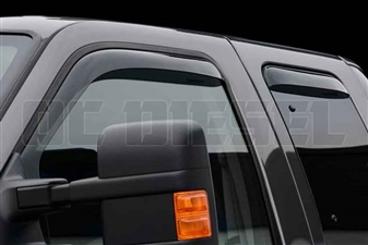 WeatherTech 88138 Dark Side Window Deflectors Set for 1999-2016 Ford 7.3L, 6.0L, 6.4L, 6.7L Powerstroke