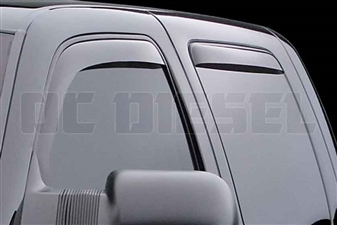 WeatherTech 88184 Dark Side Window Deflectors Set for 2001-2007 GM 6.6L Duramax LB7, LLY, LBZ