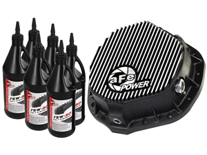 aFe Power 46-70012-WL Pro Series Rear Differential Cover Machined Fins with Gear Oil