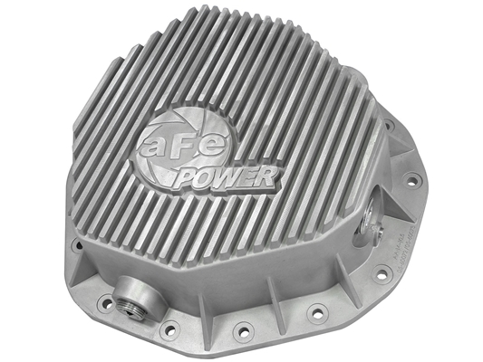 aFe Power 46-70090 Street Series Rear Differential Cover Raw Finish for 2003-2005 Dodge 5.9L Cummins