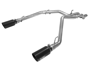 "aFe Power 49-42044-B Large Bore-HD 3"" 409 Stainless Steel DPF-Back Exhaust System for 2014-2016 Ram 3.0L EcoDiesel"