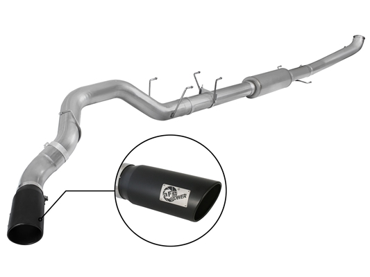 "aFe Power 49-42047-1B Large Bore-HD 5"" 409 Stainless Steel Turbo-Back Exhaust System for 2013-2016 RAM 6.7L Cummins"