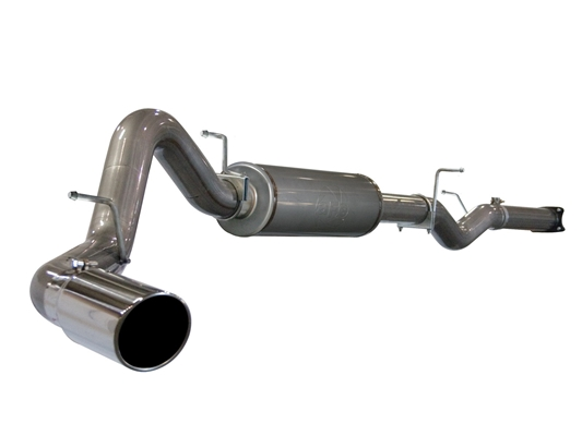 "aFe Power 49-44001 Large Bore-HD 4"" 409 Stainless Steel Cat-Back Exhaust System for 2001-2005 GM 6.6L Duramax LB7, LLY"