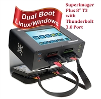 "SuperImager Plus 8""  T3 Forensic Field Unit - 8"" Touchscreen color LCD display and SAS/SATA-3 and USB3.0, Thunderbolt 3.0 port"