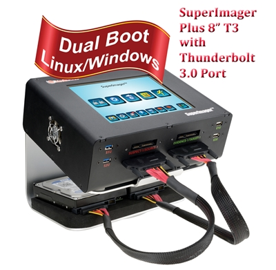 "SuperImager Plus 8""  T3 Forensic Field Unit - 8"" Touchscreen color LCD display and SAS/SATA-3 and USB3.0/USB3.1, Thunderbolt 3.0 port"