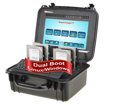 "SuperImager Plus 12"" Rugged Forensic Field Unit - 12"" Touchscreen color LCD display and SAS/SATA-3 and USB3.0"