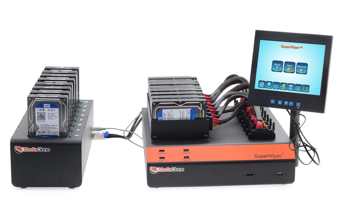 SuperWiper Desktop Pro Gen 2 - Multi Drives Eraser with 16 SAS/SATA ports