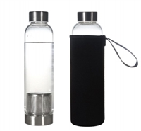 Borosilicate glass infuser bottle with sleeve