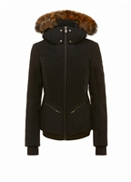 Postcard Crows Fur Trimmed Womens Down Jacket