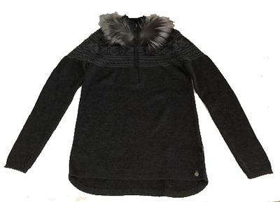 Harricana Sweater with Half Zip and Fur