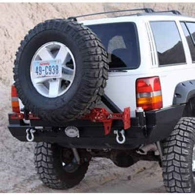 Rock Hard 4x4 Patriot Series Rear Bumper With Tire Carrier