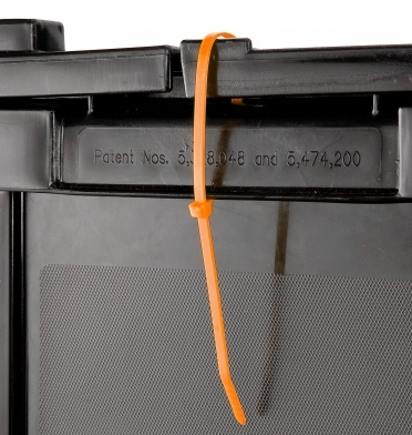 orange zip ties for moving boxes to be secured