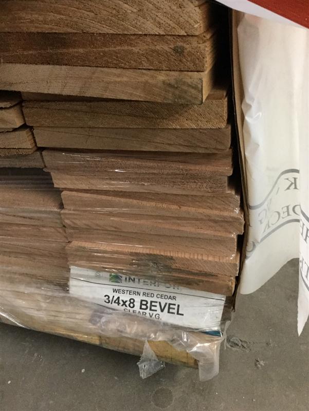 Western Red Cedar Bevel Siding 3 4 X 8 Cvg Grade