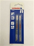 "Lenox 20336 4"" Jig Saw Blades, Bi-Metal Down Cut, 10 TPI"