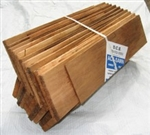 Tapersawn Hip & Ridge Shingles, Premium Grade Western Red Cedar, 10/12 Pitch