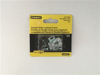Stanley Hardware 710130 Zinc Plated Double Roller Cabinet Catch