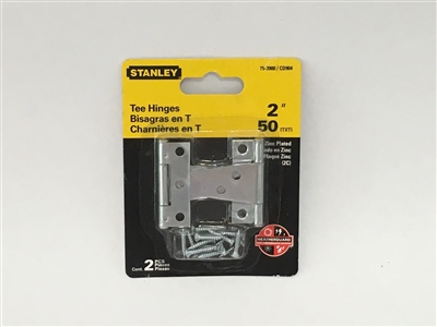 "Stanley Hardware 753900 2"" Zinc Plated Tee Hinges"