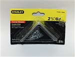 "Stanley Hardware 755690 2-1/2"" x 2-1/2"" Double Wide L-Brackets 2pcs"