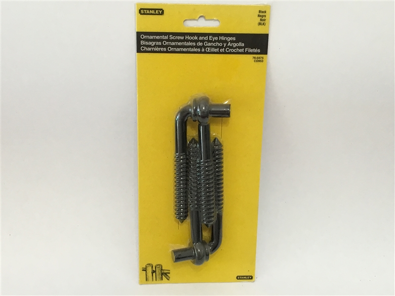 Stanley Hardware 760475 2 Count Screw Hook And Eye Hinges