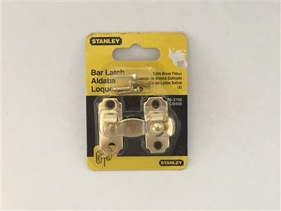 Stanley Hardware 763750 1-3/4 By 1-1/2 Inch Satin Brass Bar Latch