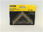 "Stanley Hardware 802221 3"" Satin Brass Corner Braces 4-ct"
