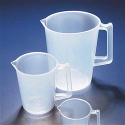 Azlon Plastic Beaker with Handle - 250ml