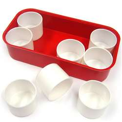 Plastic Tray With 8 Pots