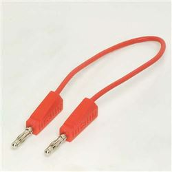 4mm Stackable Leads - 250mm Red