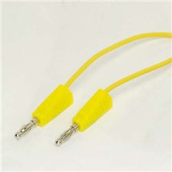 4mm Stackable Leads - 500mm Yellow