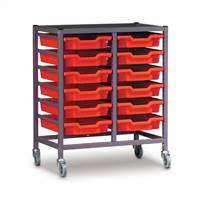 Double Column Gratnells Trolley With Trays